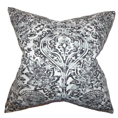 Daija Floral Cotton Throw Pillow Cover Color: Gray