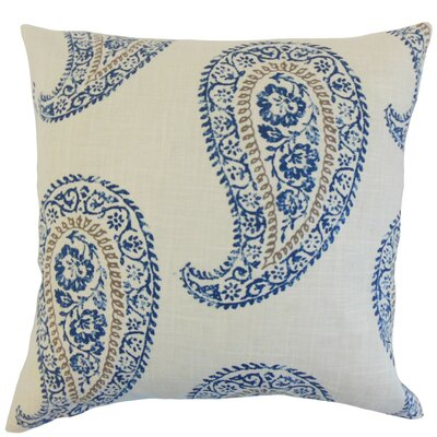 Neith Geometric Linen Throw Pillow Cover Color: Indigo