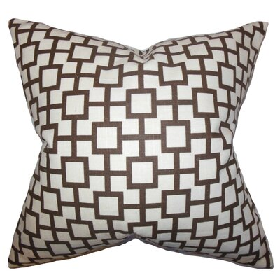 Janka Geometric Cotton Throw Pillow Cover Color: Amber