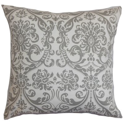 Mankin Damask Throw Pillow Cover Color: Gray