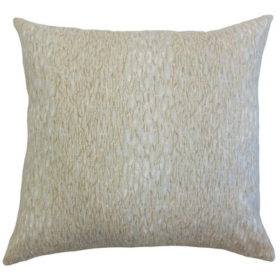 Galen Graphic Linen Throw Pillow Cover Color: Pumice