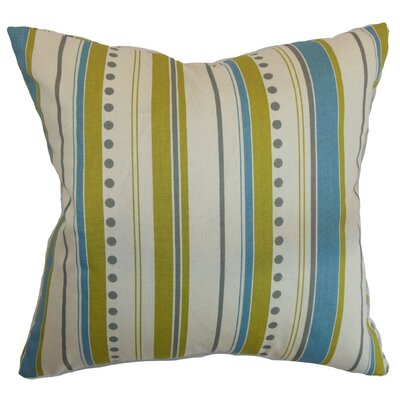 Hearst Stripes Cotton Throw Pillow Size: 18 x 18
