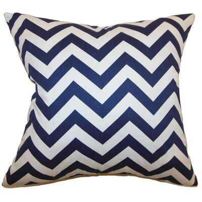 Burd Zigzag Throw Pillow Cover Color: Blue