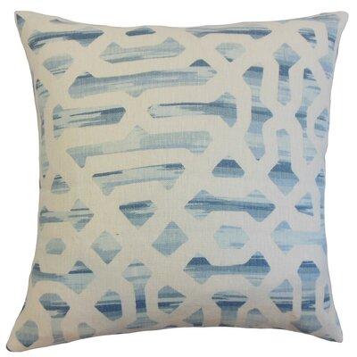 Farok Geometric Throw Pillow Cover Color: River