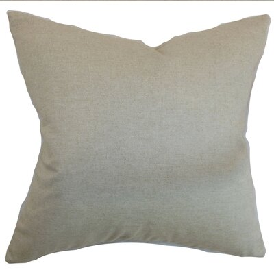 Napperby Solid Cotton Throw Pillow Size: 18 x 18