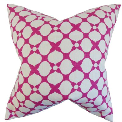 Qiturah Geometric Linen Throw Pillow Size: 22 x 22