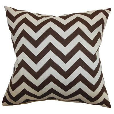 Burd Zigzag Throw Pillow Cover Color: Village Brown Natural