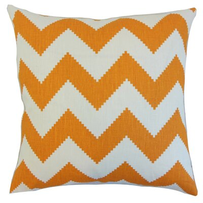 Buntin Zigzag Linen Throw Pillow Cover Color: Persimmon