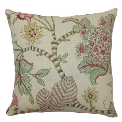 Elodie Floral Cotton Throw Pillow Cover Size: 20 x 20, Color: Teal