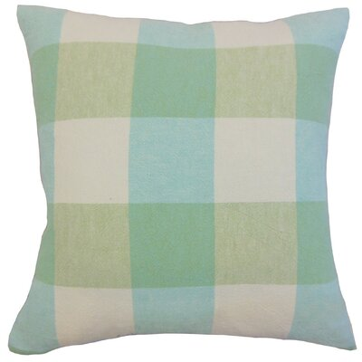 Amory Plaid Throw Pillow Cover Color: Spring