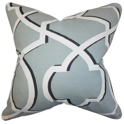 Curan Geometric Cotton Throw Pillow Cover Color: Cool Gray