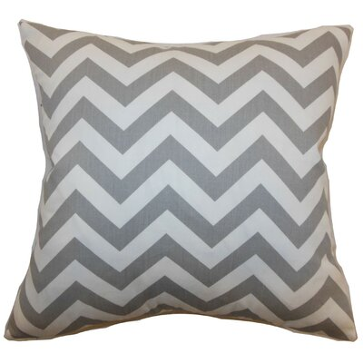 Burd Zigzag Throw Pillow Cover Color: Ash