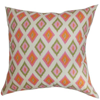 Brisbane Ikat Throw Pillow Cover Color: Gumdrop Natural