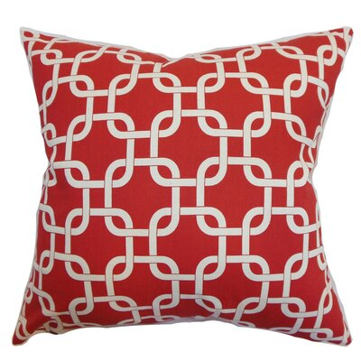 Qishn Geom Throw Pillow Cover Color: Lipstick Natural