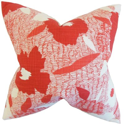 Fife Geometric Cotton Throw Pillow Cover Color: Poppy