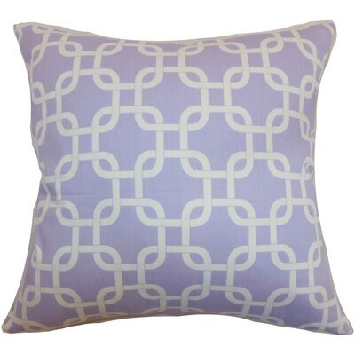 Qishn Geom Throw Pillow Cover Color: Wisteria