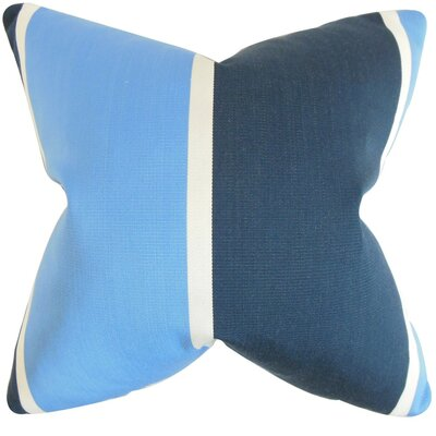 Neima Stripes Cotton Throw Pillow Cover Color: Blue