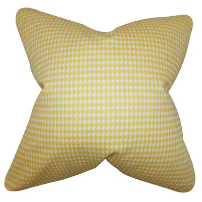 Lviv Houndstooth Throw Pillow Cover Color: Yellow