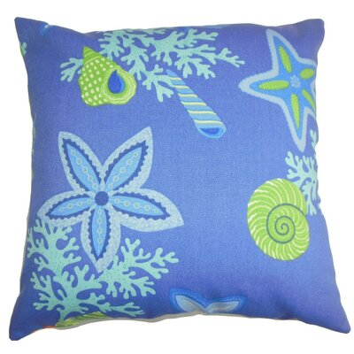 Fortner Coastal Cotton Throw Pillow Cover Color: Blue Green