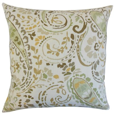 Robbia Floral Linen Throw Pillow Cover Color: Dusk