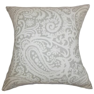 Nellary Paisley Throw Pillow Cover Color: Silver