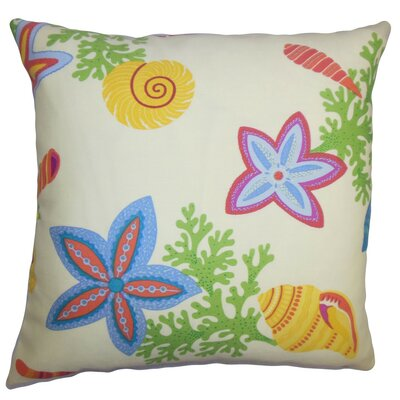 Jaleh Coastal Cotton Throw Pillow Cover Color: White Green