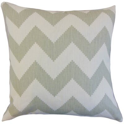 Buntin Zigzag Linen Throw Pillow Cover Color: Smoke