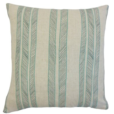 Drum Stripes Cotton Throw Pillow Cover Color: Aqua