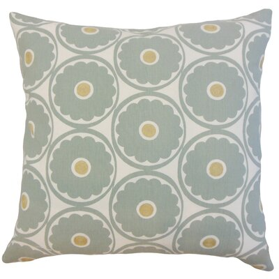 Day Floral Linen Throw Pillow Cover Color: Spa