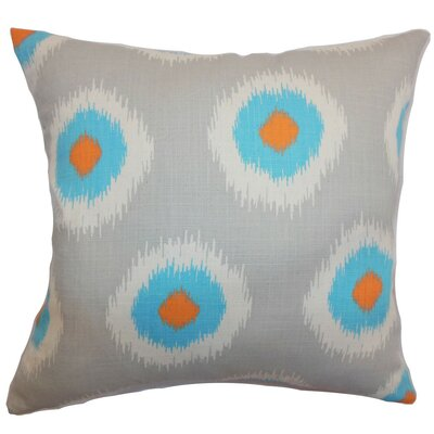 Raley Ikat Throw Pillow Cover Color: Chili Peppers