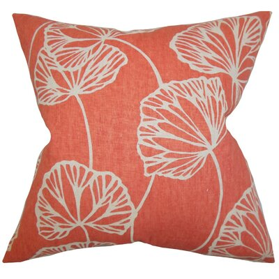 Fia Floral Linen Throw Pillow Cover Color: Pink