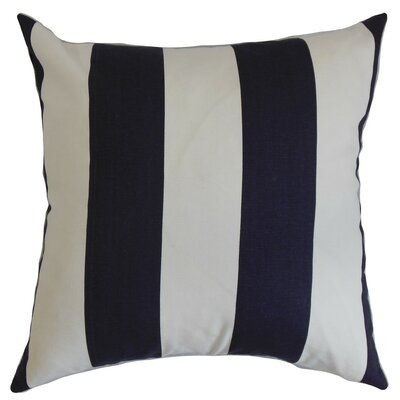 Leesburg Stripes Cotton Throw Pillow Cover Color: Blue White
