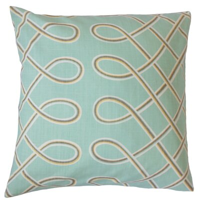 Deance Geometric Cotton Throw Pillow Cover Color: Pool