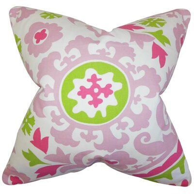 Wella Floral Throw Pillow Cover Color: Candy Pink