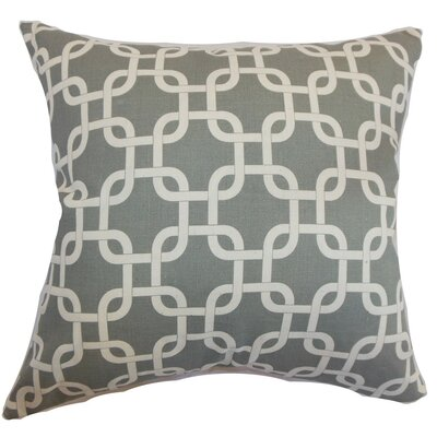 Qishn Geom Throw Pillow Cover Color: Gray