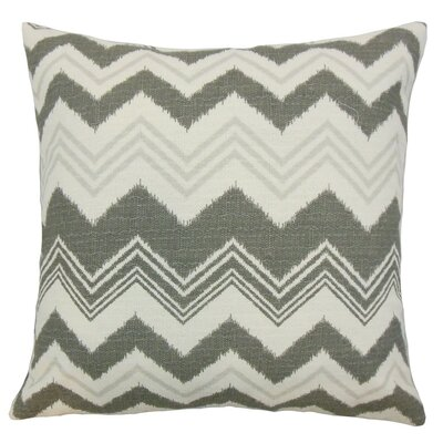 Quirindi Zigzag Cotton Throw Pillow Cover Color: Gray