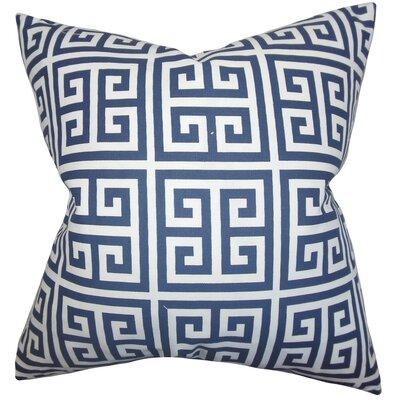 Paros Greek Key Throw Pillow Cover Color: Navy Blue