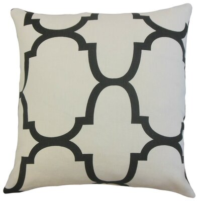 Channon Geometric Cotton Throw Pillow Cover Color: Jet