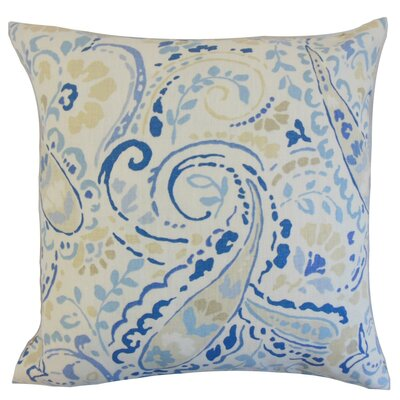 Robbia Floral Linen Throw Pillow Cover Color: Ocean