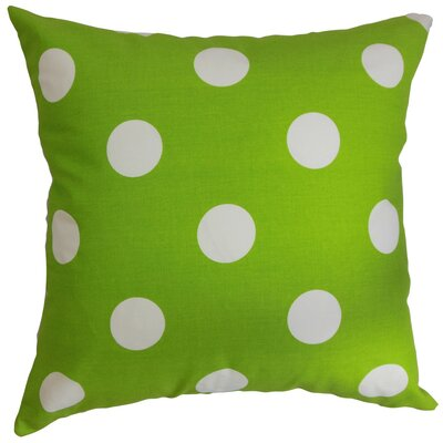 Rane Polka Dots Bedding Sham Size: Queen, Color: Chartreuse White