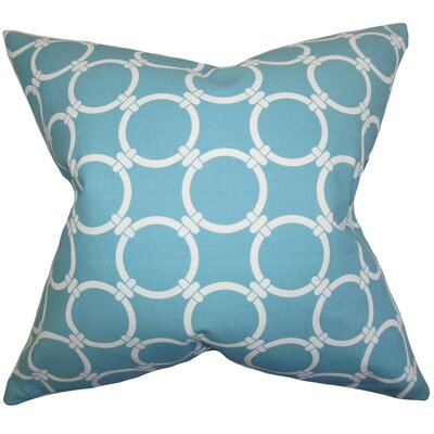 Cadencia Geometric Cotton Throw Pillow Cover Color: Blue