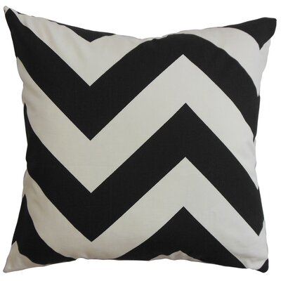 Eir Zigzag Throw Pillow Cover Color: Black White