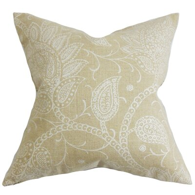 Brinkworth Floral Throw Pillow Cover Color: Natural