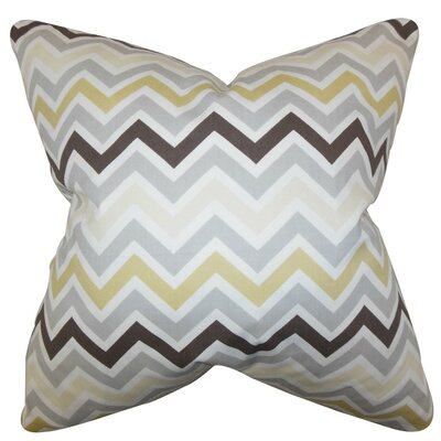 Howel Zigzag Cotton Throw Pillow Cover Color: Gray