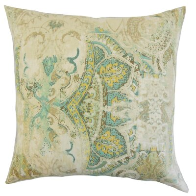 Havilah Floral Cotton Throw Pillow Cover Color: Seahorse
