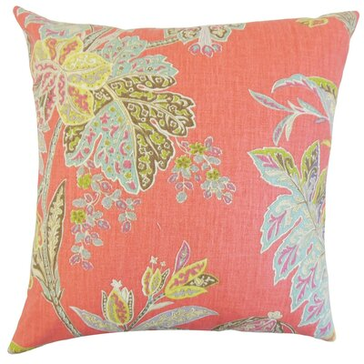 Taja Floral Linen Throw Pillow Cover Color: Festival