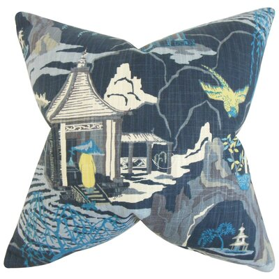 Praxis Geometric Throw Pillow Cover Color: Blue