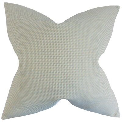 Gilberte Geometric Cotton Throw Pillow Cover Color: Mist