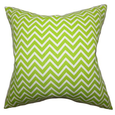 Burd Zigzag Throw Pillow Cover Color: Chartreuse