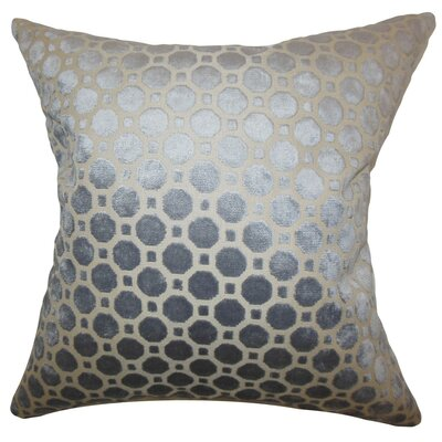 Maeve Geometric Bedding Sham Size: Euro, Color: Gray